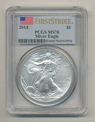 2014 American Silver Eagle 1 oz Coin PCGS MS 70 First Strike Exact Shown