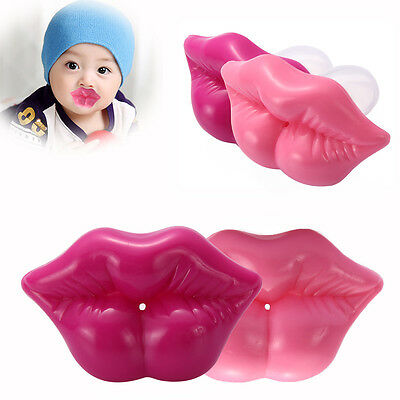 Funny Baby Pacifiers Kiss Lip Toddler Infant Soother Nipples Teether Silicone