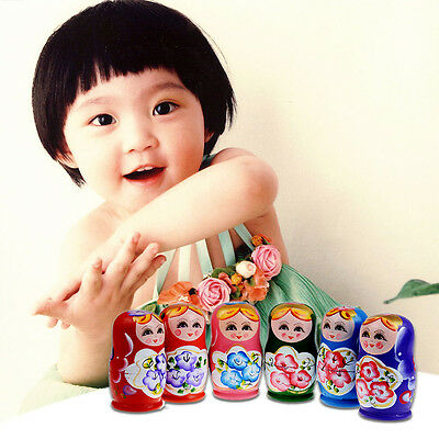 5pcs Matryoshka Russian Nesting Dolls Toy Wooden Doll Babushka Hand Painted