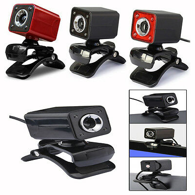 USB 2.0 1080P 12MP 4 LED HD Webcam Web Cam Camera w/Mic for PC Laptop Tablet New
