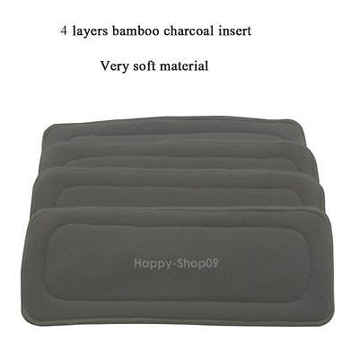 1x Reusable Bamboo Fiber Charcoal Insert Baby Cloth Diaper Nappy Insert Pad Mat