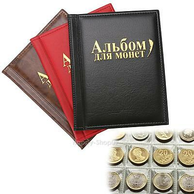 250 Pockets PU World Coin Album Book Case Collection Storage Collecting Book