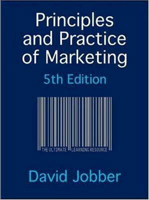 Principles and Practice of Marketing by Jobber, David, Good Used Book (Paperback