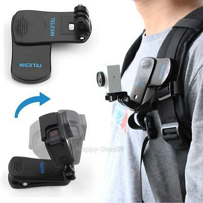360° Rotary Backpack Hat Belt Clip Fast Clamp Mount for Gopro Hero 5 4 Yi 4K New