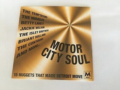 Motor City Soul  15  Track  Cd  Mojo  Magazine  May 2019  Motown Detroit
