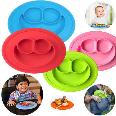 Silicone Baby Toddler Suction Table Snack Mat (27x20x2)cm Kids Happy Food Tray