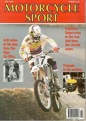 1993 MAY 31274 Motorcycle Sport Magazine  TRIUMPH IN THE MAKING