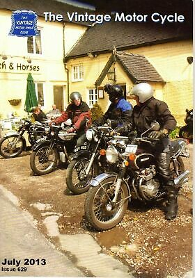 The Vintage Motor Cycle Club Magazine July  2013 Issue 629 Lamplugh Oil Pumps