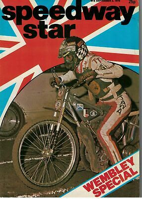 Speedway Star Magazine 2 September 1978 Wembley Special 5666F