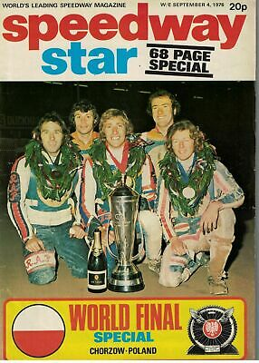 Speedway Star Magazine 4 September 1976 World Final 68 Page Special 5663F