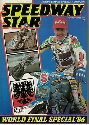 Speedway Star Magazine 30 August 1986 World Final Special 5674F
