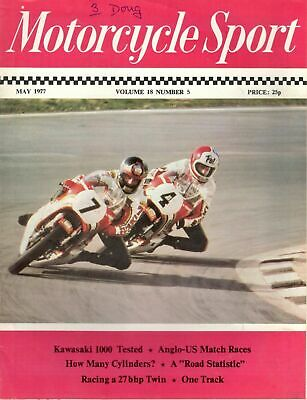 1977 MAY 29052  Motorcycle Sport  RACING A 27 BHP TWIN * ANGLO US MATCH RACES
