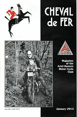 Cheval De Fer Ariel Owners Motor Cycle Club Magazine January 2013  19785