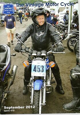 The Vintage Motor Cycle Magazine 44403  Issue 619 September 2012