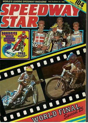 Speedway Star Magazine 31 August 1985 World Final Special 5673F