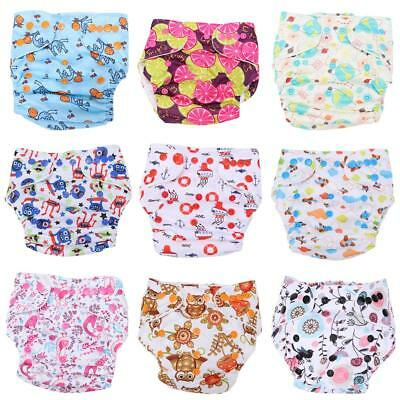 Baby One Size Adjustable Cloth Diapers Cover Reusable Washable Nappy Cover v#h9
