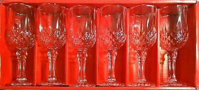 Set of 6 Wine Whiskey Champagne Glass Crystal Diamond Glass Christmas Gift