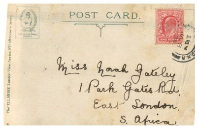 (EC 4)  UK very old postcard - 1905 London St James Park Foreign & India office