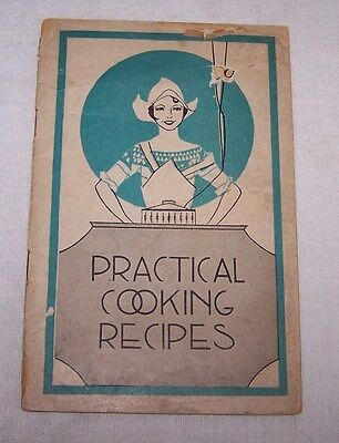 1930'S Era Lydia E Pinkham's Vegetable Compound-Practical Cooking Recipes+ Ads