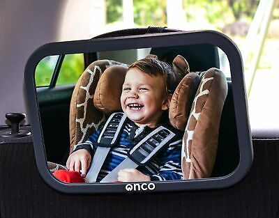 OncoBaby Car Mirror -  Keep an Eye on Baby in a Rear Facing Child seat - Black