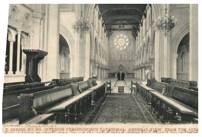 (Del 120) postcard - very old New Zealand - Christchurch Cathedral interior