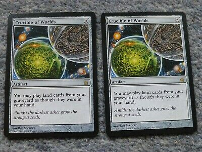 CRUCIBLE OF WORLDS x 2 - MTG Darksteel NM/EX Magic the Gathering