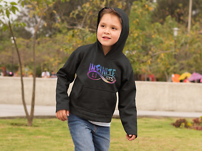 2e3f8029df5 INFINITE LISTS GALAXY Logo Hoodie KIDS Unofficial Merch 3-12 Years ...