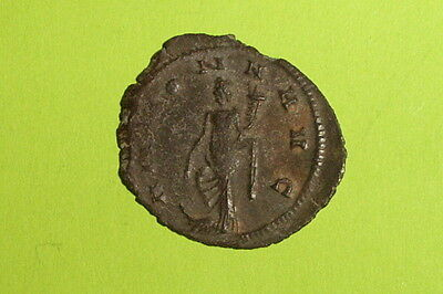 Claudius II Gothicus 268 AD ancient ROMAN COIN goddess wheat harvest VF prow old