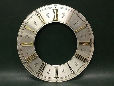 NOS Vintage Brass Clock Dial Roman Numerals Clock Parts Steampunk ~ W. Germany