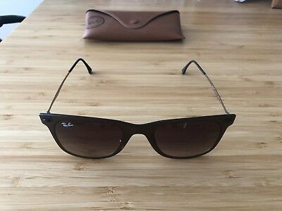 46534db23072d New Ray-Ban Light Ray Wayfarer RB4225 894 13 Brown   Brown Gradient with