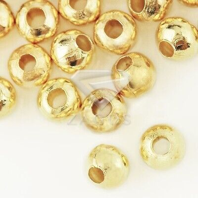 20g(120pcs) Crimp End Beads Round Gold 4mm Jewelry Making Findings JACP0021