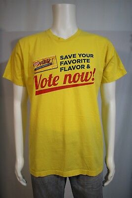 American Apparel Men's LARGE Lays Do Us A Flavor Chips Yellow SS Graphic T-shirt