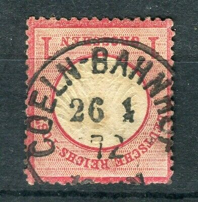 GERMANY; 1872 early classic Shield issue used 1g. value, fair EARLY Postmark