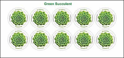 US 5198 Green Succulent Global Forever sheet (10 stamps) MNH 2017