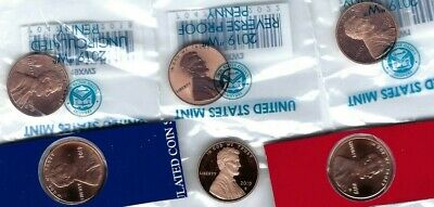 All Six Flawlwss 2019PDSWWW Shield Lincoln Cent Coins!