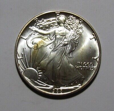 1988 American Silver Eagle Dollar - BU Condition / Toning - 26SA