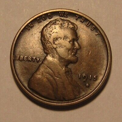 1915 S Lincoln Cent Penny - Very to Extra Fine Condition - 91SA