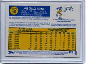 2019 Topps Heritage Jose Altuve French Text OPC Version Card