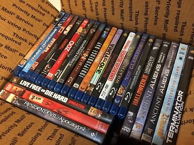 Lot of 25 BLU-RAY / DVD Movies USED NICE VARIETY FREE S/H SEE PHOTOS FOR TITLES