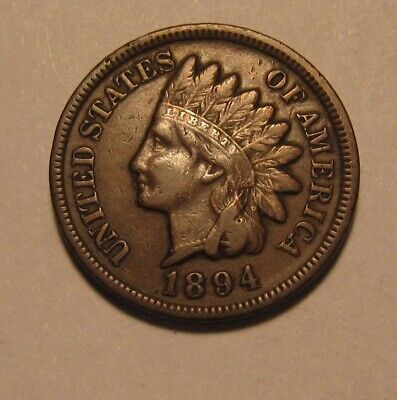 1894 Indian Head Cent Penny - Very Fine Condition - 153SA