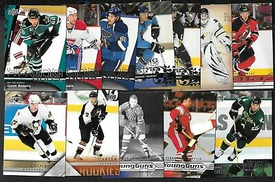 2003-04 To 2009-10 Upper Deck Young Guns Rookie Rc Nhl Hockey Card See List