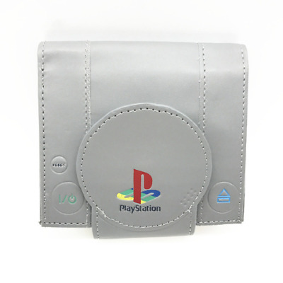 Playstation Wallet Game Retro PS1 Shape Card Holder & Coin Purse Man Video Games