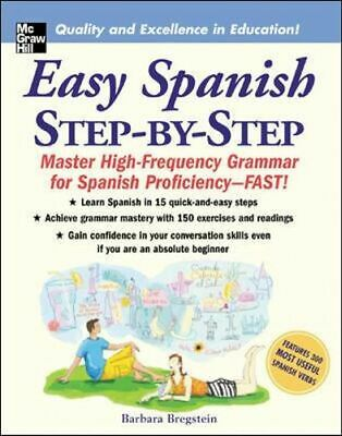 NEW Easy Spanish Step-By-Step By Bregstein Barbara Paperback Free Shipping