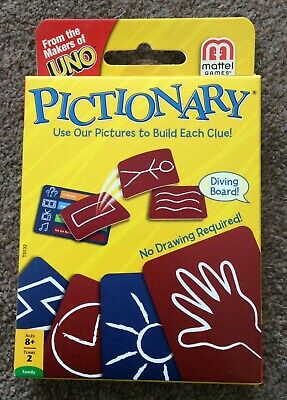 Pictionary Card Game by Mattel Cards /The Makers Of Uno BRAND NEW and UNOPENED