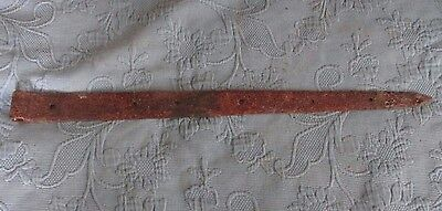 Antique Iron Blacksmith Hand Made Gate or Barn Strap Hinge, 25 Inch