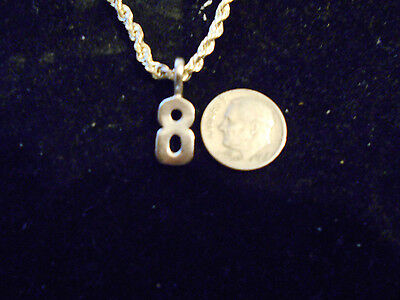 bling SILVER plated game fashion jewelry number 8 pendant charm hip hop necklace