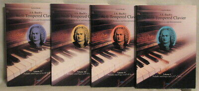 J. S. BACH'S WELL-TEMPERED CLAVIER by SIGLIND BRUHN  RARE 4 VOL 1993 EDITION SET