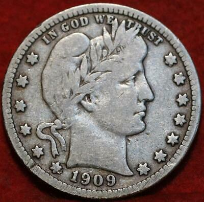 1909-D Denver Mint Silver Barber Quarter