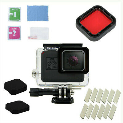 11PCS Waterproof Case Diving Protective Housing Shell 45m for GoPro Hero7 Black