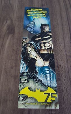Dc Comics BATMAN 75th Anniversary BOOKMARK NY CON EXCLUSIVE